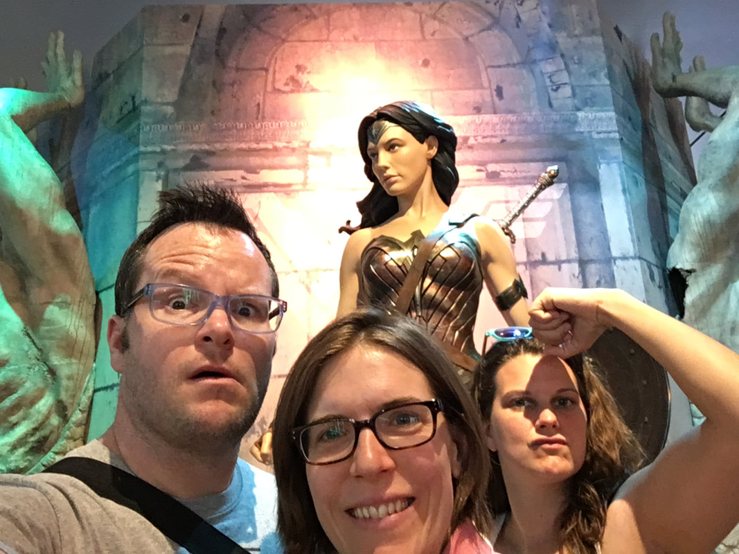 Alan Donegan and Wonder Woman in LA