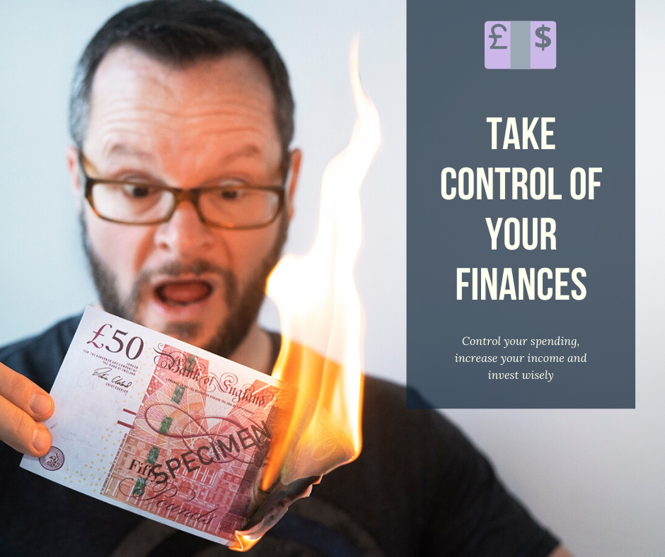 Alan Donegan burning £50. Personal finance. FIRE
